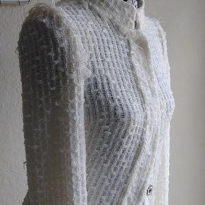 Les Copaines Nubby Light Tweed jacket size 40 IT